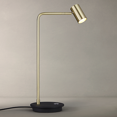 John Lewis Alpha LED Table Lamp, Gold/Black