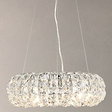 Buy John Lewis Bangles Small Crystal Pendant, Clear/Chrome Online at johnlewis.com