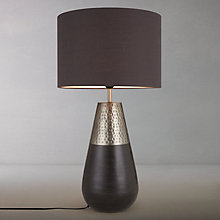 Buy John Lewis Sumaco Mixed Finish Table Lamp Online at johnlewis.com