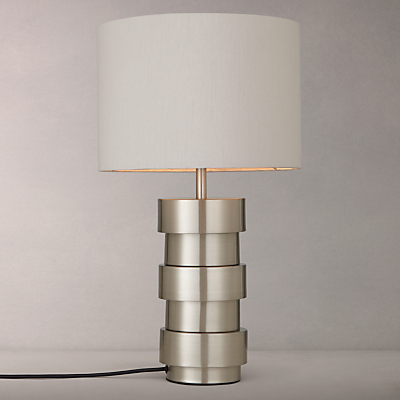 John Lewis Delos Touch Table Lamp, Satin Nickel