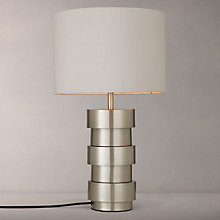 Buy John Lewis Delos Touch Table Lamp, Satin Nickel Online at johnlewis.com
