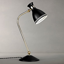 Buy John Lewis Vesper Task Table Lamp, Black/Brass Online at johnlewis.com