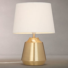 Buy John Lewis Lupin Table Lamp, Brass/White Online at johnlewis.com