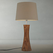 Buy John Lewis Aki Natural Sheesham Table Lamp Online at johnlewis.com