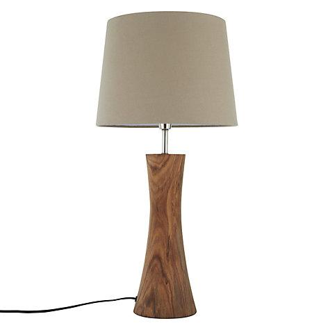 buy john lewis aki natural sheesham table lamp john lewis