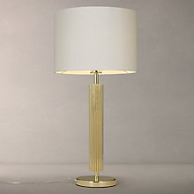 Buy John Lewis Boutique Hotel Manus Stain Brass Table Light, Taupe Online at johnlewis.com