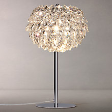 Buy John Lewis Alexa Crystal Table Lamp, Chrome Online at johnlewis.com