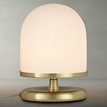 Buy John Lewis Pod Table Lamp, Satin Brass Online at johnlewis.com