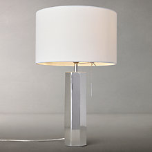 Buy John Lewis Hex Table Lamp, Polished Chrome, Large Online at johnlewis.com
