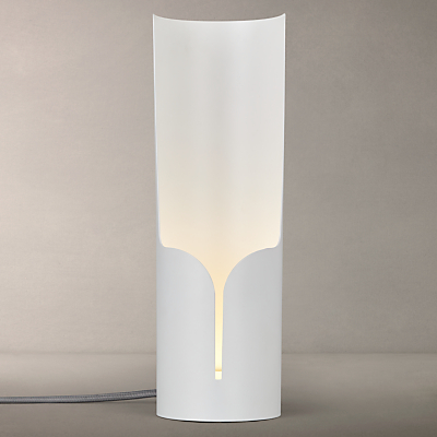 John Lewis Pipe LED Table Lamp, White, Large
