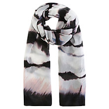 Buy Karen Millen Tie Dye Scarf, Black/White Online at johnlewis.com