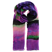 Buy Karen Millen Stripe Print Scarf, Purple/Multi Online at johnlewis.com