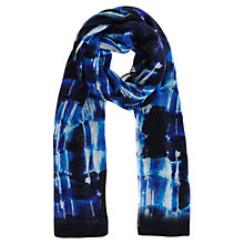 Buy Karen Millen Graphic Print Scarf, Blue/Multi Online at johnlewis.com