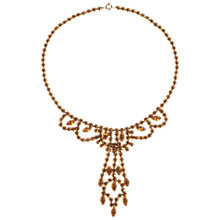 Buy Alice Joseph Vintage 1950s Gilt Plated Diamante Necklace, Amber Online at johnlewis.com