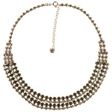 Buy Alice Joseph Vintage 1950s Silver Diamante Necklace, White Online at johnlewis.com