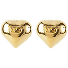 Buy Susan Caplan Vintage 1980s Valentino Gold Plated Heart Earrings, Gold Online at johnlewis.com
