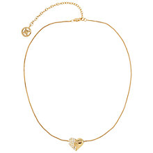 Buy Susan Caplan Vintage 1990s Givenchy Swarovski Crystal Heart Necklace, Gold Online at johnlewis.com