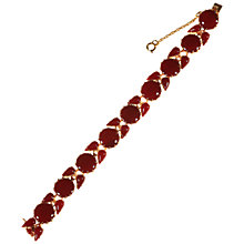 Buy Alice Joseph Vintage Gilt Plated Glass Stone Bracelet, Red Online at johnlewis.com