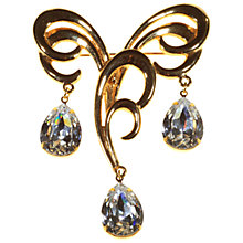 Buy Alice Joseph Vintage 1960s Napier Large Orante Diamante Brooch Online at johnlewis.com