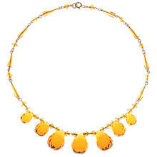 Buy Alice Joseph Vintage 1930s Glass Bead Necklace, Amber Online at johnlewis.com