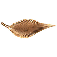 Buy Alice Joseph Vintage Christian Dior 22ct Gold Plated Leaf Brooch, Gold Online at johnlewis.com