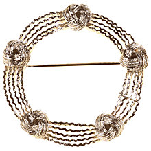 Buy Alice Joseph Vintage Coro Silver Circle Knot Brooch, Silver Online at johnlewis.com