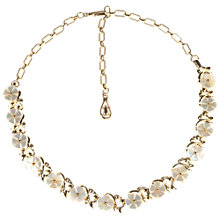 Buy Alice Joseph Vintage 1950s Gilt Plated Mother of Pearl Flowers Necklace, Gold Online at johnlewis.com