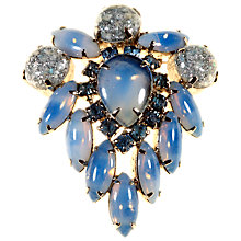 Buy Alice Joseph Vintage 1950s Silver Confetti Stone Brooch, Blue Online at johnlewis.com