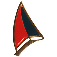 Buy Alice Joseph Vintage 1981 Givenchy Gold Plated Boat Brooch, Red/Blue Online at johnlewis.com