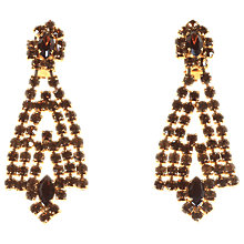 Buy Alice Joseph Vintage Gilt Plated Diamante Drop Clip-On Earrings, Topaz Online at johnlewis.com