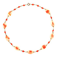 Buy Alice Joseph Vintage 1930s Twisted Glass Bead Necklace, Orange Online at johnlewis.com