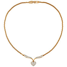 Buy Susan Caplan Vintage 1970s Swarovski Crystal Attwood & Sawyer Necklace, Gold Online at johnlewis.com
