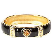 Buy Susan Caplan Vintage Monet Gold Plated Swarovski Crystal Heart Bangle, Gold/Black Online at johnlewis.com
