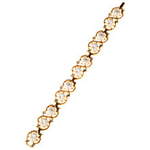 Buy Alice Joseph Vintage 1950s Trifari Gilt Plated Diamante Flower Bracelet, White Online at johnlewis.com