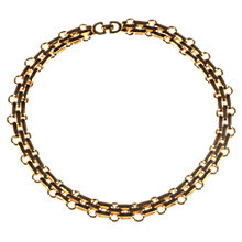 Buy Alice Joseph Vintage Christian Dior Gold Plated Choker Necklace, Gold Online at johnlewis.com