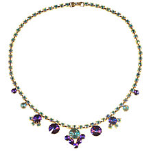 Buy Alice Joseph Vintage 1950s Gilt Plated Rivoli Diamante Necklace, Purple Online at johnlewis.com