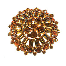 Buy Alice Joseph Vintage 1950s Topaz Diamante Brooch, Topaz Online at johnlewis.com