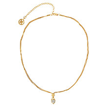 Buy Susan Caplan Vintage 1990s Givenchy Crystal Heart Necklace, Gold Online at johnlewis.com