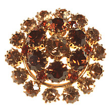 Buy Alice Joseph Vintage 1950s Napier Diamante Large Ornate Brooch, Topaz Online at johnlewis.com
