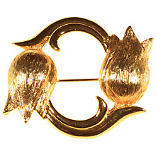 Buy Alice Joseph Vintage Monet Gold Plated Tulips Brooch, Gold Online at johnlewis.com