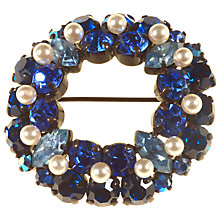 Buy Alice Joseph Vintage Japanned Metal Pearl Diamante Austrian Brooch, Pearl Online at johnlewis.com