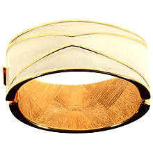 Buy Alice Joseph Vintage Monet Gold Plated Enamel Bangle, Cream Online at johnlewis.com