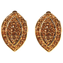 Buy Alice Joseph Vintage Gilt Plated Diamante Teardrop Clip-On Earrings, Citrine Online at johnlewis.com