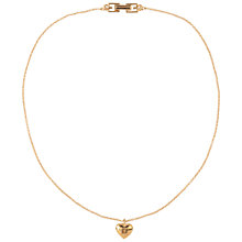 Buy Susan Caplan Vintage 1990s Givenchy Signature Heart Charm Necklace, Gold Online at johnlewis.com