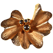Buy Alice Joseph Vintage Coro Gilt Plated Textured Flower Brooch, Gold Online at johnlewis.com