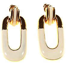 Buy Alice Joseph Vintage 1980s Gilt Plated Enamel Drop Earrings, Cream Online at johnlewis.com