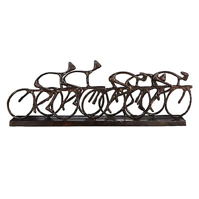 Image of Libra Antique Bronze Cyclists Sculpture