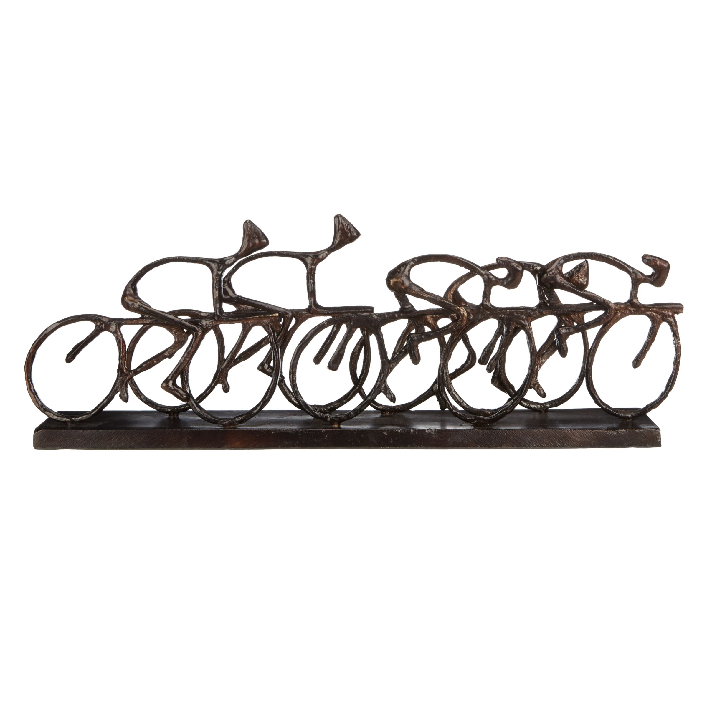 Libra Libra Antique Bronze Cyclists Sculpture