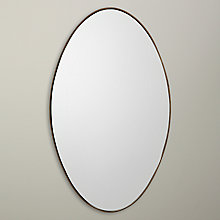 Buy John Lewis Oval Mirror, Antique Brass Edge, 100 x 70cm Online at johnlewis.com