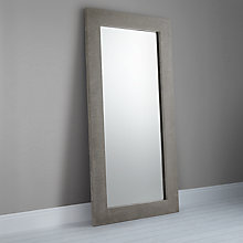 Buy John Lewis Concrete Leaner Mirror, 166 x 85cm Online at johnlewis.com